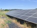 Solar panels in the fields